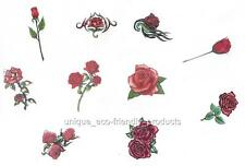 LOT 10  SMALL SIZE RED ROSES ALL DIFFERENT VERY PRETTY Temporary Tattoo