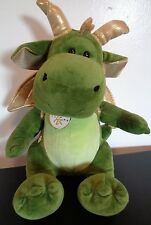 """BUILD A BEAR Limited Edition YEAR OF THE DRAGON Plush Green 14"""" Free Ship 2012"""