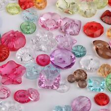 100 Mixed Acrylic BUTTONS DIY SEWING CRAFTS SCRAPBOOKING 2 Holes/Shank Back