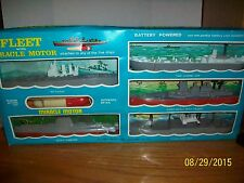 Vintage Fleet With Miracle Motor  Gift Pack Five Toy Ships made in Hong Kong