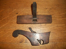 RARE ANTIQUE TAILED WOODEN RABBIT PLANE AND ROUTER AS FOUND