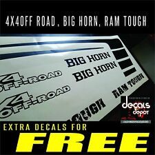 Any DODGE RAM Graphics Hood Decal Emblems plus Bed Stripes 1500, 2500HD, 3500HD