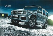 2013 MERCEDES BENZ G KLASSE PROSPEKT BROCHURE CATALOGUE + PREISLISTE ENGLISCH UK