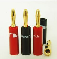 24 Nakamichi Speaker banana plug connector 24K Gold Plated N0534 USA Seller