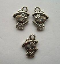 30 pcs Tibetan silver animal charm pendant 15x11 mm