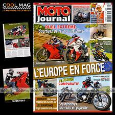 MOTO JOURNAL N°1860 DUCATI 1000 GT & 1198 S BIMOTA DB7 TRIUMPH 900 BONNEVILLE SE