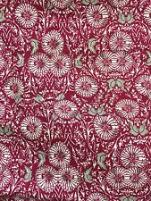 """Floral Viscose Rayon Fabric Pink White - By Meter - 58"""" Wide"""
