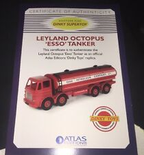 Atlas Edition Dinky Supertoys Leylan Octopus Esso Tanker, Cert & Pin Badge.....