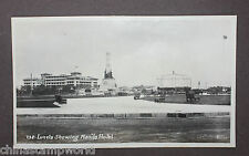 Vintage Old Photo,T38 Luneta showing Manila Hotel,13.6x8cm