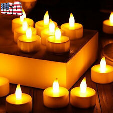 24PC Votive CFlameless LED Tealight Flicker Tea Light Candles Wedding Battery