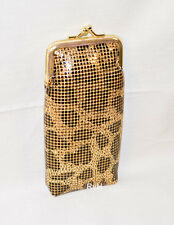 Ultra Mesh 100s Cigarette Case w/LIGHTER POCKET Gold Leopard Pattern KANI100AG