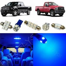 8x Blue LED lights interior package kit for 1999-2010 Ford Super Duty FS1B