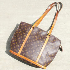 Authentic Louis Vuitton Monogram Babylone Shoulder Bag Large LV Purse in Brown