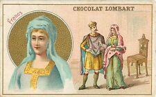 FRANCS FRANCE  UNIFORMES FEMME COSTUMES  IMAGE CARD CHROMO