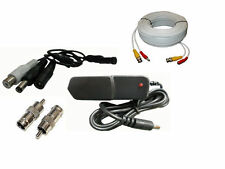 CCTV High Microphone Security Camera RCA Audio Mic DC Power & Cable 50FT package