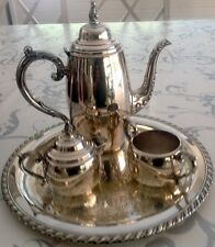 SERVICE à THÉ ou CAFÉ en MÉTAL ARGENTÉ   USA  TEA SET or COFFEE  SILVERY METAL