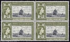 JAMAICA 1955 QE2 Founding 2d green Block4 MNH @B499