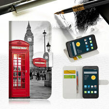 British phone Booth Wallet Case Cover For Optus 4G ZTE ZIP -- A024