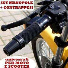 SET DI CONTRAPPESI + MANOPOLE NERO KYMCO XCITING K-XCT VENOX MYROAD PEOPLE LIKE
