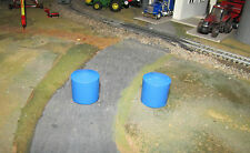 1/64 Custom Farm Toy Blue Water Tanks - Qty 2
