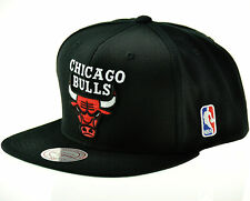 CHICAGO BULLS Mitchell & Ness NBA Snapback Hat - Black Wool Solid Cap