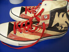 Converse All Star Hi Tops Red White + Blue USA Eagle Flag men's 9.5 / women 11.5