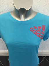 adidas Performance Graphic Tee Size S Light Aqua RRP £26 BNWT Z49199