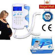 Schermo LCD Rilevatore cardiaca FETALE BABY SOUND Doppler Pulse Monitor 3mhz preciso buona condizione