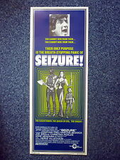 SEIZURE 1970s Original Horror Insert Movie Poster Oliver Stone, Martine Beswick