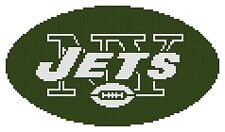 Counted Cross Stitch Pattern, New York Jets Logo - Free US Shipping
