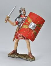 MIDDLE AGE CAESAR ROMAN FOOT SOLDIER W/ SWORD & SHIELD FIGURINE STATUE FIGURE