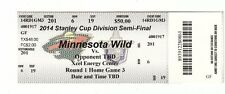 2014 MINNESOTA WILD VS COLORADO AVALANCHE TICKET STUB GAME #6 PLAYOFFS 4/21 TM