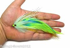 "6"" Trout Salmon Steelhead Pike Fly Fishing Streamer Flies Green NEW"