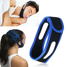 Anti Snore Stop Snoring Sleep Apnea Strap Belt Jaw Solution Chin Support Aid yon