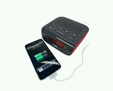 #1Alarm Clock Fm Radio with Dual Alarm USB Charging Station for Any Mobile