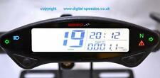 Koso Dirt Bike Speedometer + speed sensor, Hour & ride time meter,idiot lights