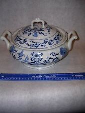 "Vintage Blue Danube Blue Onion Large covered veg dish / tureen 10-1/2"" Perfect"