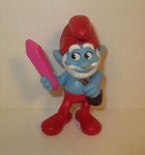 """2013 Papa Smurf 3"""" Papa's Crystal McDonald's #1 PVC Action Figure Smurfs 2"""