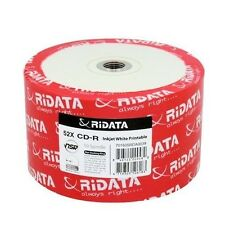 50 New Ridata 52X White Inkjet Hub Printable CD-R CD [FREE USPS Priority Mail]