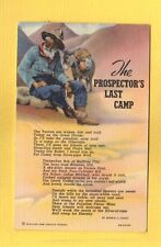 The PROSPECTORS LAST CAMP Miner & Burro and poem about meeting lost friends