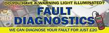6FT X 2FT FAULT DIAGNOSTICS BANNER *Tools Mechanic Snap On OBD Codes Workshop*