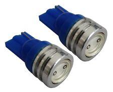 2x ampoule T10 W5W 12V LED bleu veilleuses éclairage intérieur seuils de porte