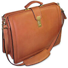 Jack Georges Belting Classic Leather Lawyers Briefbag w/ Shoulder Strap Tan 9005