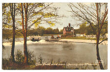 OLD POSTCARD THE LOCK AND WEIR, GORING-ON-THAMES, FRITH POSTED  GORING 1960