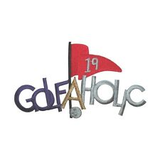 ID 5041 Golfaholic Golf Sport Script Game Embroidered Iron On Applique Patch