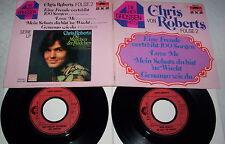 """CHRIS ROBERTS - DIE GROSSEN VIER - EINE FREUDE ...- DOPPEL 7"""" Single - 1972 / 73"""