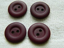 NEW 25 3/4 INCH WINE COLORED DULL/ MATTE FINISH BUTTONS