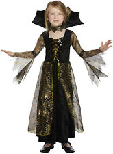 SPIDERELLA Witch Age 7 8 9 Girls Kids Fancy Dress Trick Treat Halloween Costume