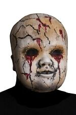 Creepy Cracked Doll Face Mask, Morbid, Halloween Horror