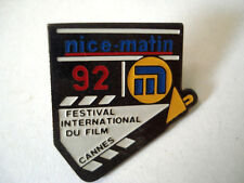 PINS RARE JOURNAL NICE MATIN MEDIA ACTUALITES Festival du Film CANNES 1992